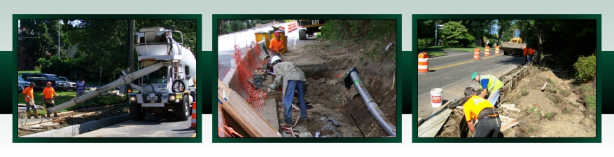 Sewer & Drain Pipework, Sidewalks, Masonry, Construction Safety